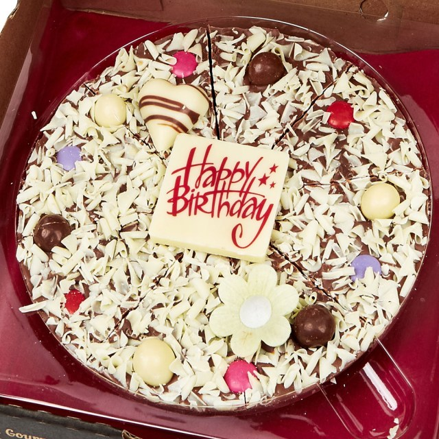 Pizza Birthday Cake Happy Birthday Chocolate Pizza Gift For Girls Cake Cetera Cake