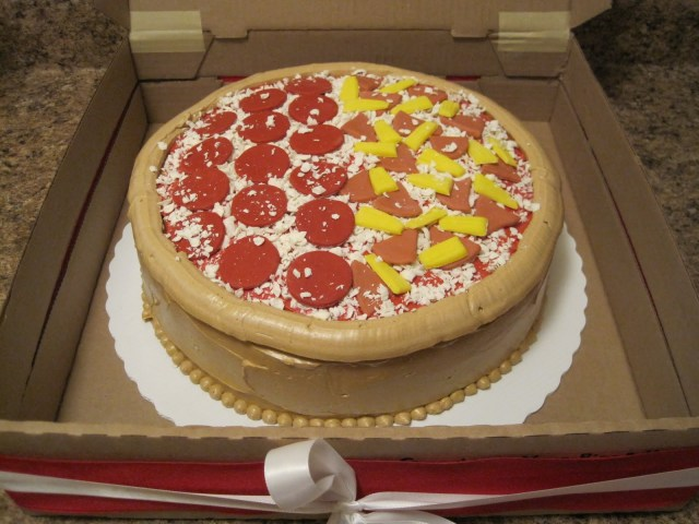 Pizza Birthday Cake Pizza Birthday Cakes