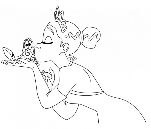 Princess And The Frog Coloring Pages Coloring Pages Collection Of Disney Princess Coloring Pages Tiana
