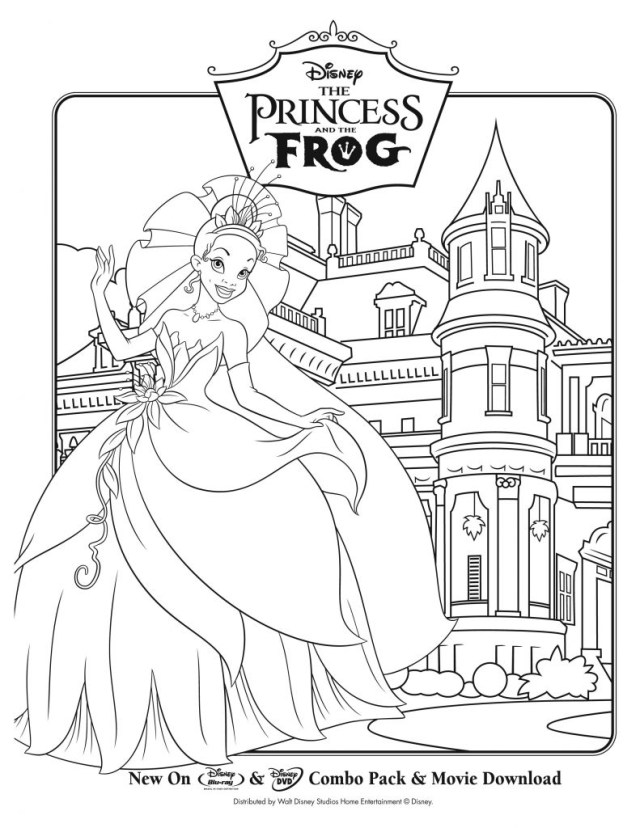 Princess And The Frog Coloring Pages Princess And The Frog Coloring Pages For Kids With Princess And Frog
