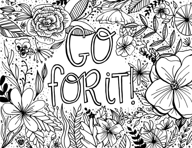 Print Coloring Pages Free Encouragement Coloring Page Printable Dawn Nicole Designs