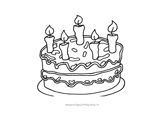 Printable Birthday Coloring Pages Printable Birthday Coloring Pages
