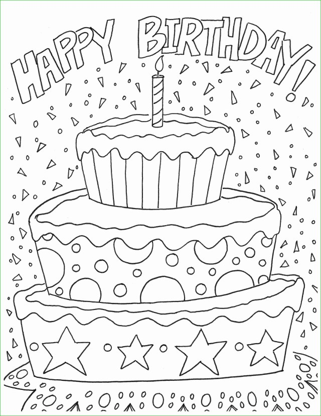 Printable Birthday Coloring Pages Printable Happy Birthday Coloring Pages For Dad Level Printable