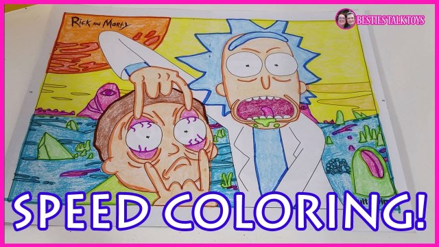 Rick And Morty Coloring Pages Speed Coloring Rick And Morty Coloring Page Loot Crate July 2016