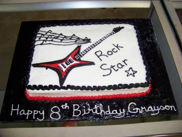 Rock Star Birthday Cake Rock Star Birthday Cake A 14 Sheet White Cake Covered In Flickr