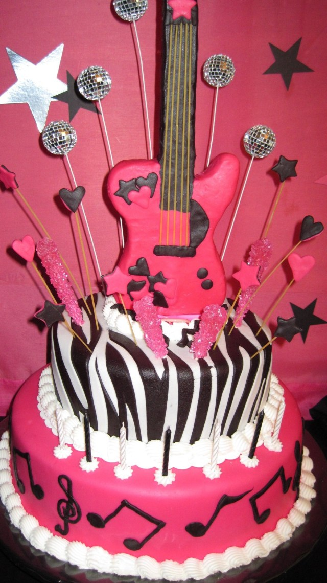 Rock Star Birthday Cake Rock Star Birthday Cake Idea For Girls Party In Pink Delicious