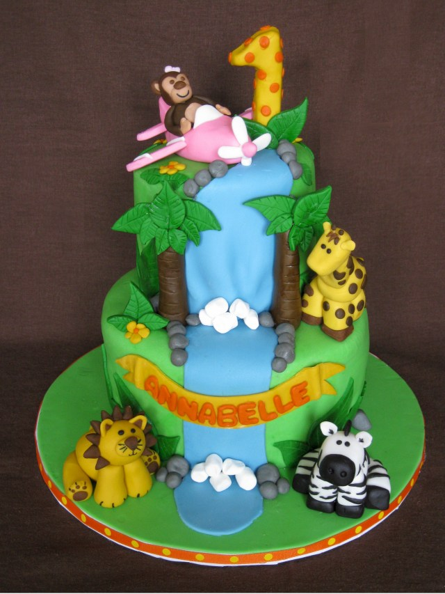 Safari Birthday Cake 13 Birthday Cakes Jungle Safari Toddler Photo Jungle Safari