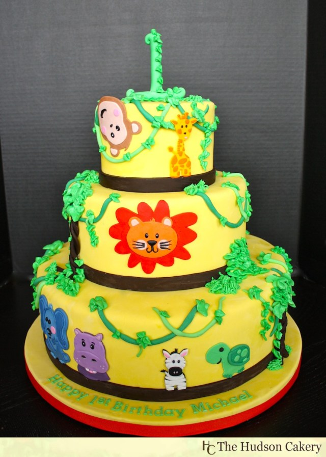 Safari Birthday Cake 1st Birthday Safari Cake The Hudson Cakery