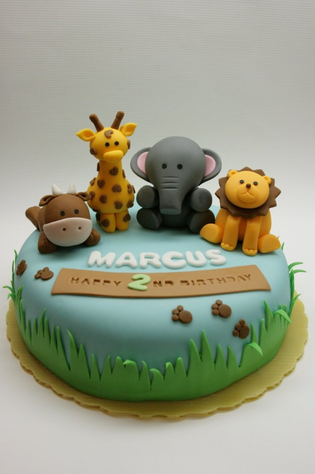 Safari Birthday Cake 7 Safari Animals Birthday Cakes Photo Safari Animal Birthday Cake