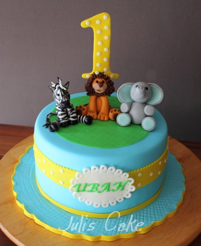 Safari Birthday Cake Safari Animals Birthday Cake Cakecentral