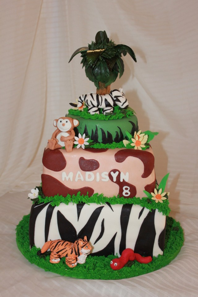 Safari Birthday Cake Safari Birthday Cake Cakecentral