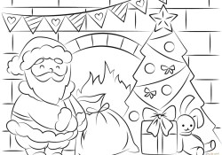Santa Coloring Page Free Santa Coloring Pages And Printables For Kids