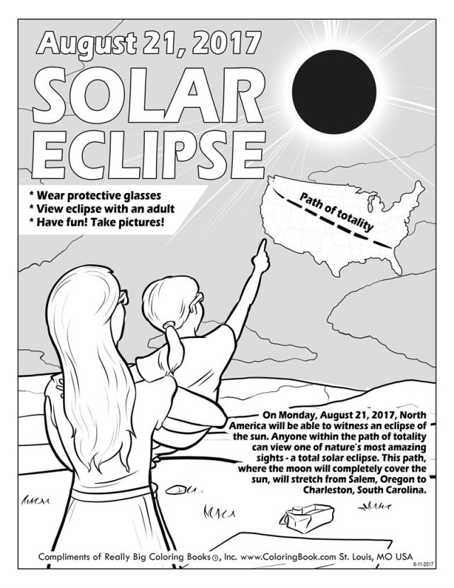 Solar Eclipse Coloring Page Coloring Books Solar Eclipse 2017 Free Online Coloring Page