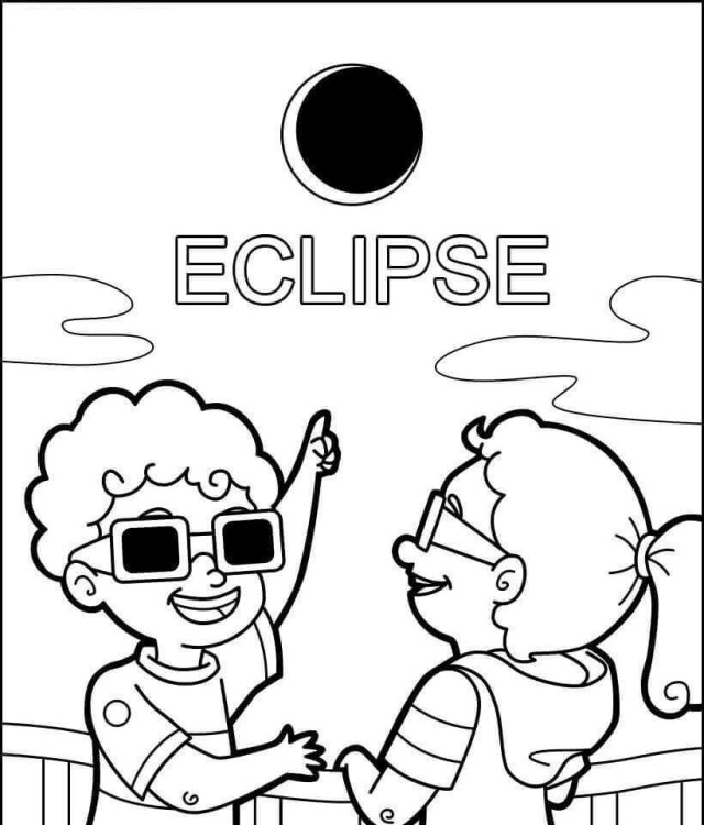 Solar Eclipse Coloring Page Free Printable Eclipse Coloring Pages Solar And Lunar Eclipse