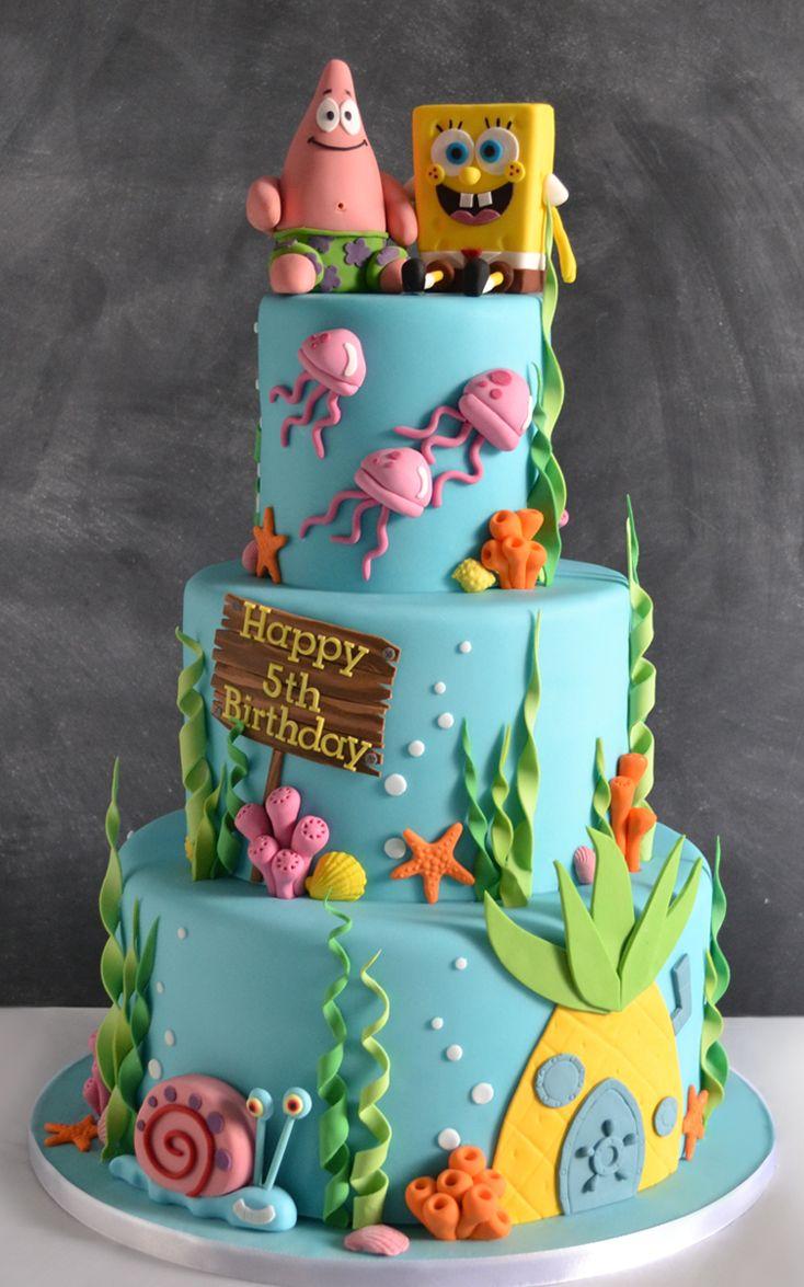 Spongebob Birthday Cakes Bespoke Cake Cupcakes Celebration For All Events