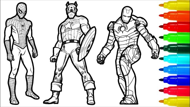 Superman Coloring Page Spiderman Iron Man Captain America Wolverine Superman Coloring Pages