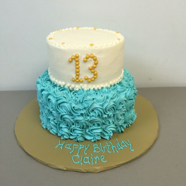 Teal Birthday Cakes 13 Year Old Cake Just For Fun Rhonda F
