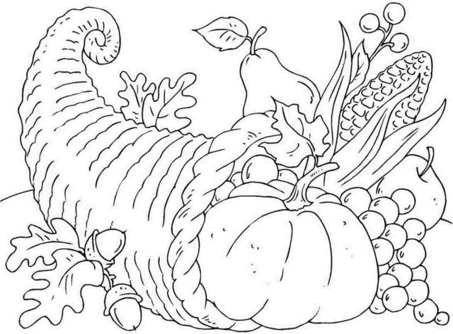 Thanksgiving Color Pages Free Thanksgiving Color Pages Coloring All Within Page Mofassel Me