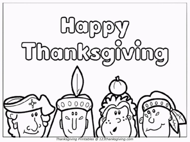 Thanksgiving Color Pages Thanksgiving Coloring Pages For Kids Activity Happy Thanksgiving