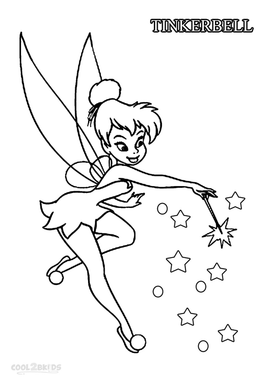 Tinkerbell coloring pages printable disney fairies coloring pages