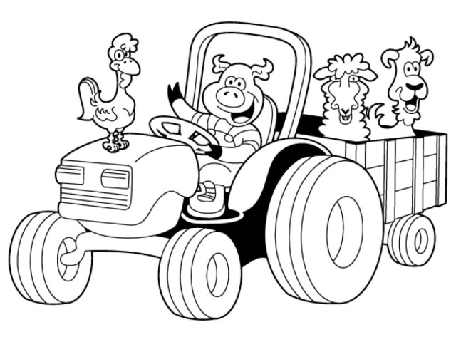 Tractor Coloring Pages Coloring Pages Tractor Epic Book Within Images To Color Parkspfe