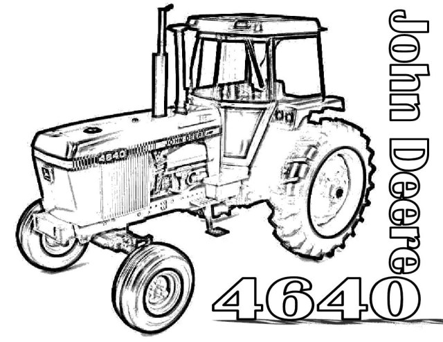 Tractor Coloring Pages John Deere Tractor Coloring Pages Classic Style John Deere