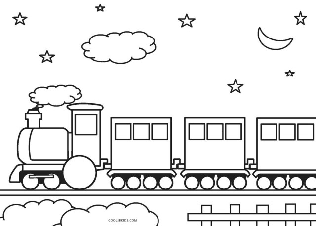 Train Coloring Page Free Printable Train Coloring Pages For Kids Cool2bkids