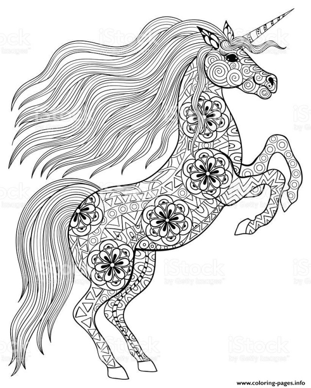 Unicorn Coloring Pages For Adults Coloring Pages Coloring Pages Adult Magic Unicorn Printable