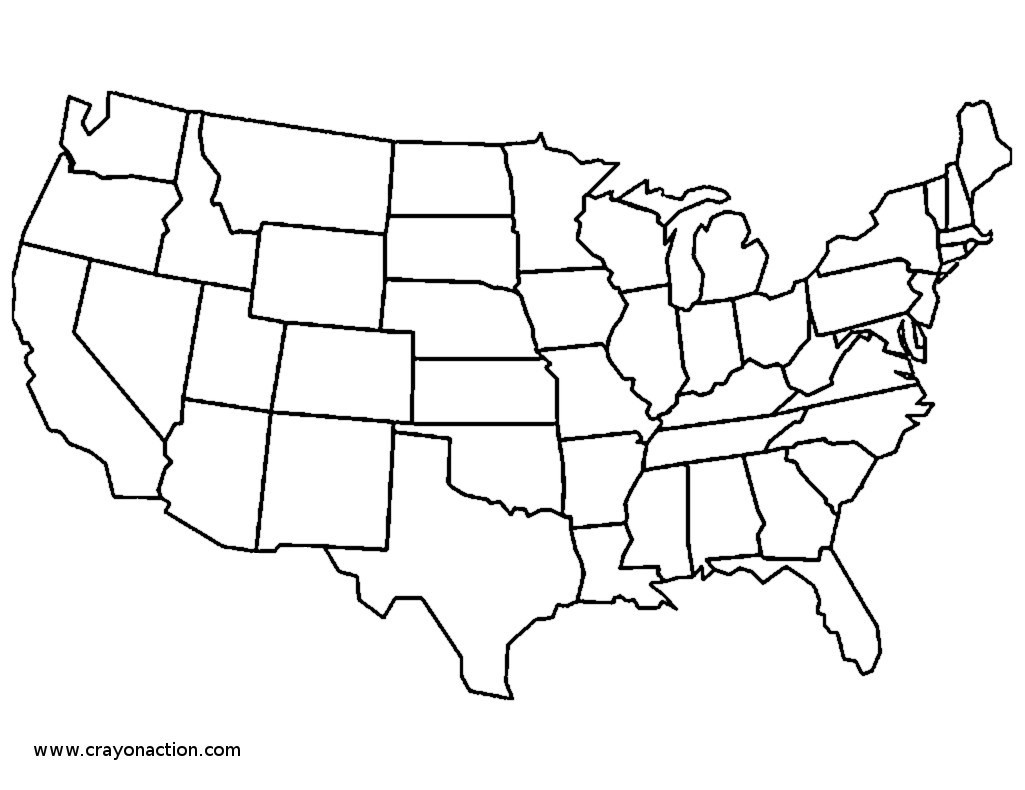 Usa Coloring Pages Us State Map Coloring Pages Unlabeled Of Usa Home ...
