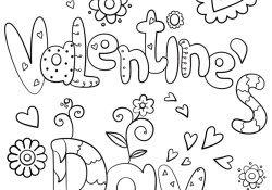 Valentines Day Coloring Page Happy Valentines Day Coloring Page Free Printable Coloring Pages