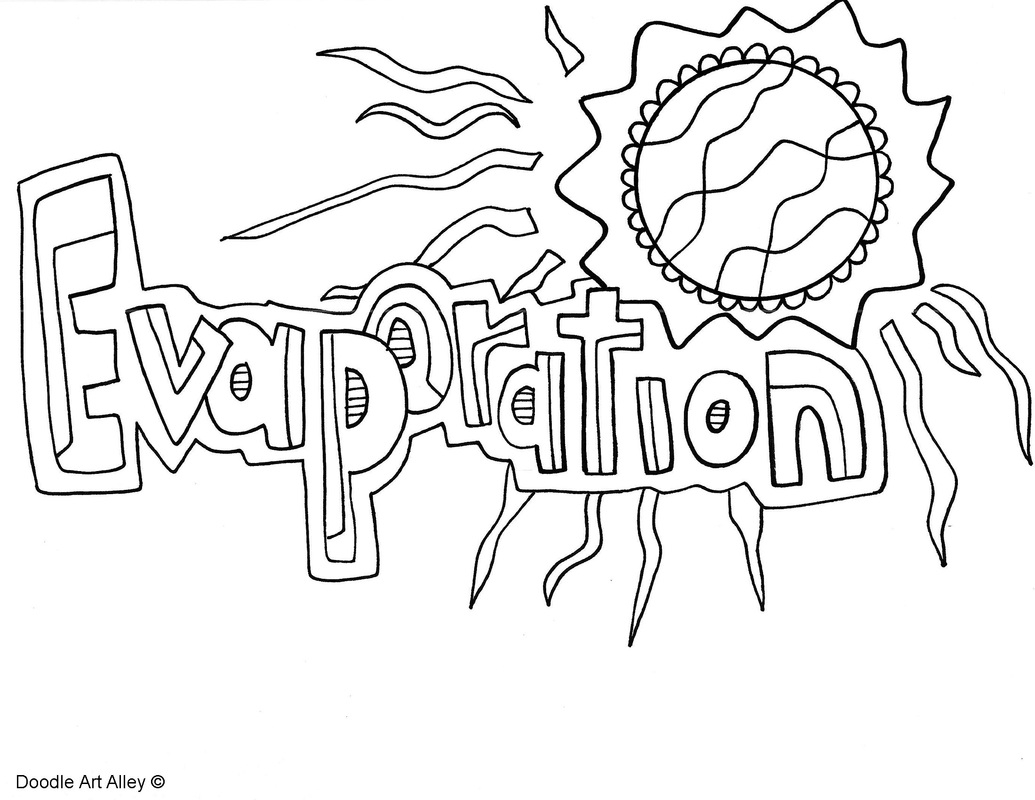 Exclusive Picture Of Water Cycle Coloring Page