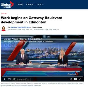 Entity Developments Gateway Blvd Center Global News