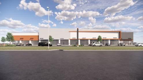 Entity Developments Gateway Blvd Center Renders Building 1