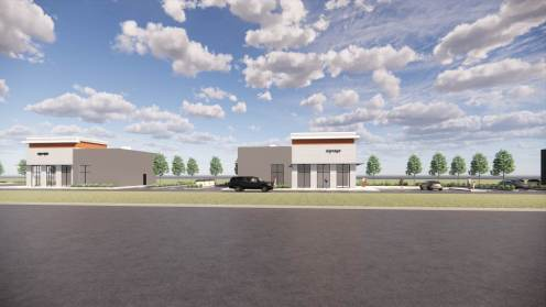 Entity Developments Gateway Blvd Center Renders Building 6