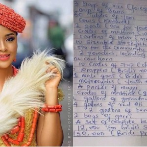 This Igbo traditional marriage list will make you want to remain single for life!