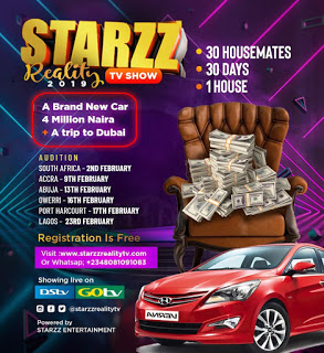 STARZZ REALITY TV SHOW 2019 [4Million, Brand New car & more for grab]