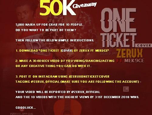 #ZeruxOneTicket GiveAway