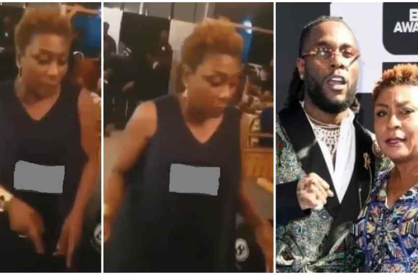 Burna Boy's mom shows off moves as she dances to his song [VIDEO]