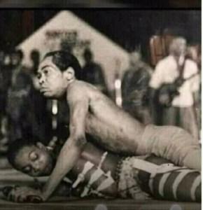 Photo of Fela rocking Burna Boy's mother