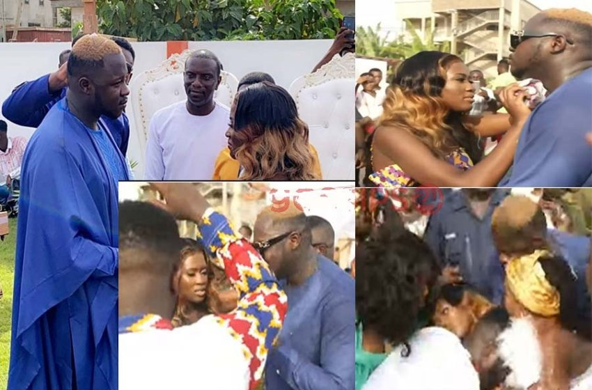 Popular Ghanaian Actress Collapses At Her Wedding