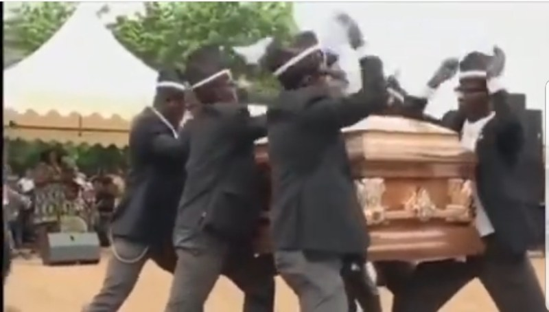 Interview with the dancing coffin bearers who have become an online sensation