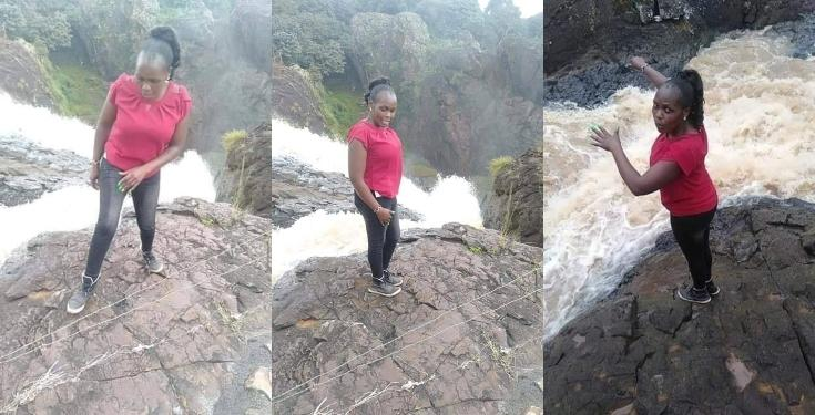 Lady falls to death while posing for pictures on a date with fiancé