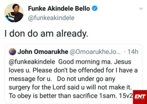 Actress Funke Akindele Bello Replies Online Prophet Who Had Prophesy For Her.
