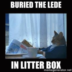 don't bury the lede