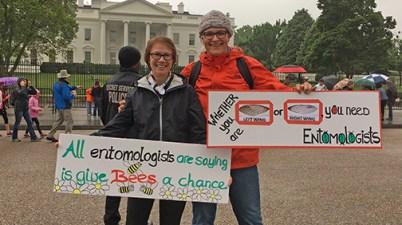 Leellen Solter and Marianne Alleyne in Washington DC