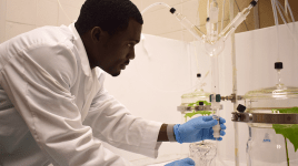 Tolulope Morawo in lab