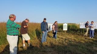 tour participants at Klose-Barnick farm