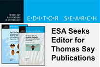 Call for Editor-in-Chief of Thomas Say Publications