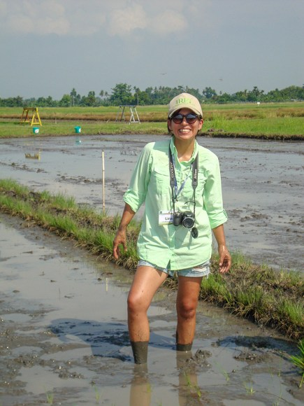 Lina Bernaola at International Rice Research Institute