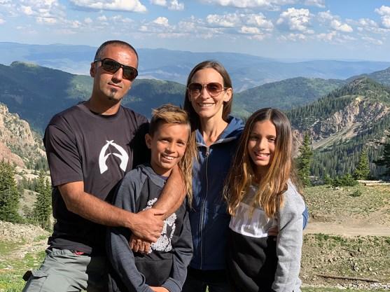 Ary Faraji, Ph.D., BCE, and family